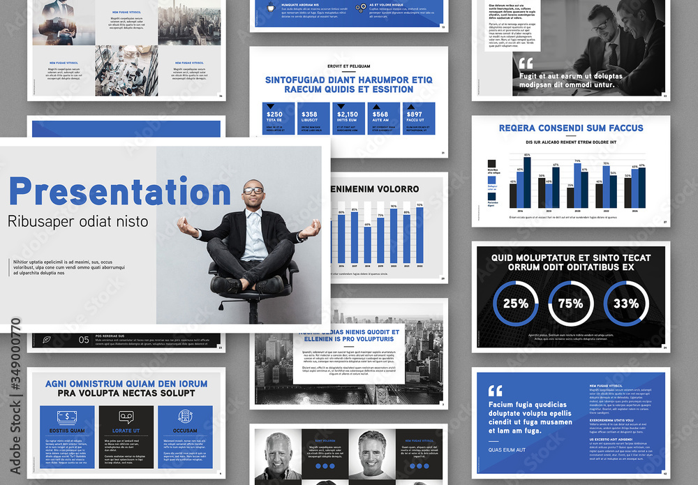 Fototapeta Business Presentation slides Layout