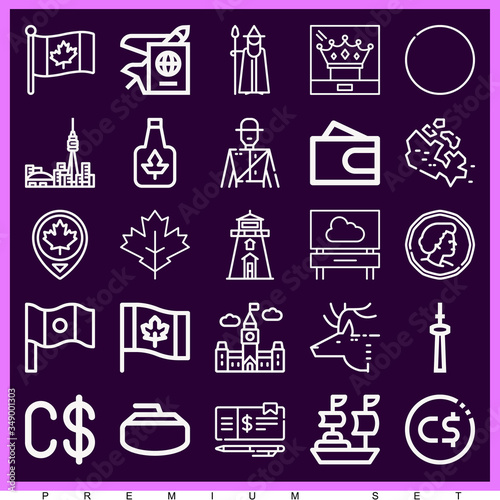 Set of 25 ottawa lineal icons