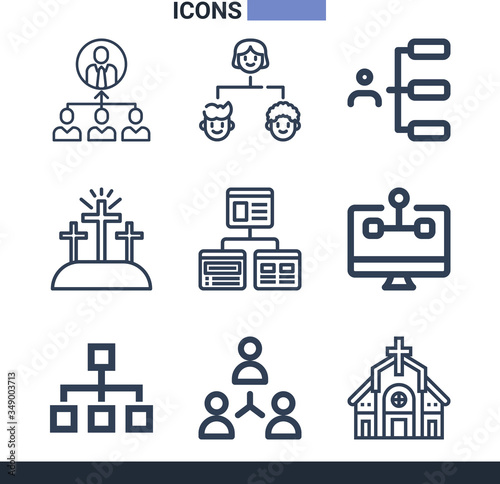 Photo Collection of 9 apostolic lineal icons