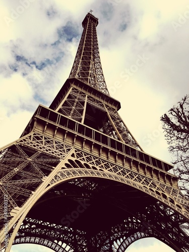 Low Angle View Of Eiffel Tower #349008372