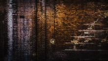 Full Frame Shot Of Old Red Brick Wall