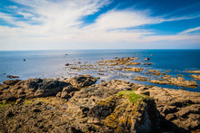 Rocky Coastline At The Lizard Point In Cornwall, UK