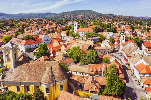 Fototapeta Szentendre city from the air - Hungary obraz
