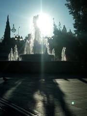 Fountain At Park Against Sky On Sunny Day