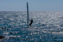 Windsurfing On The Sea On The Island Of Hvar