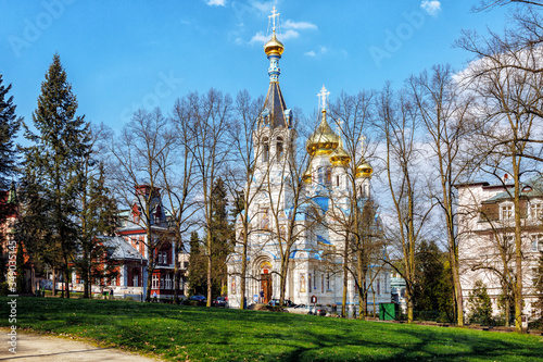 Orthodox Church in Karlovy vary Canvas Print