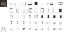 Device Icons Set: Desktop Comp...