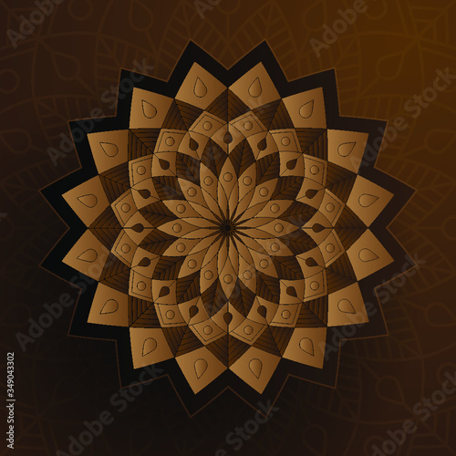 Paper Style Ornament Color Islamic Decoration - 349043302