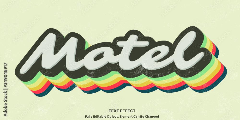 Fototapeta Colorful Vintage 3D Text Effect Graphic Style