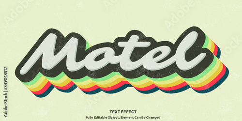 Colorful Vintage 3D Text Effect Graphic Style - 349048917