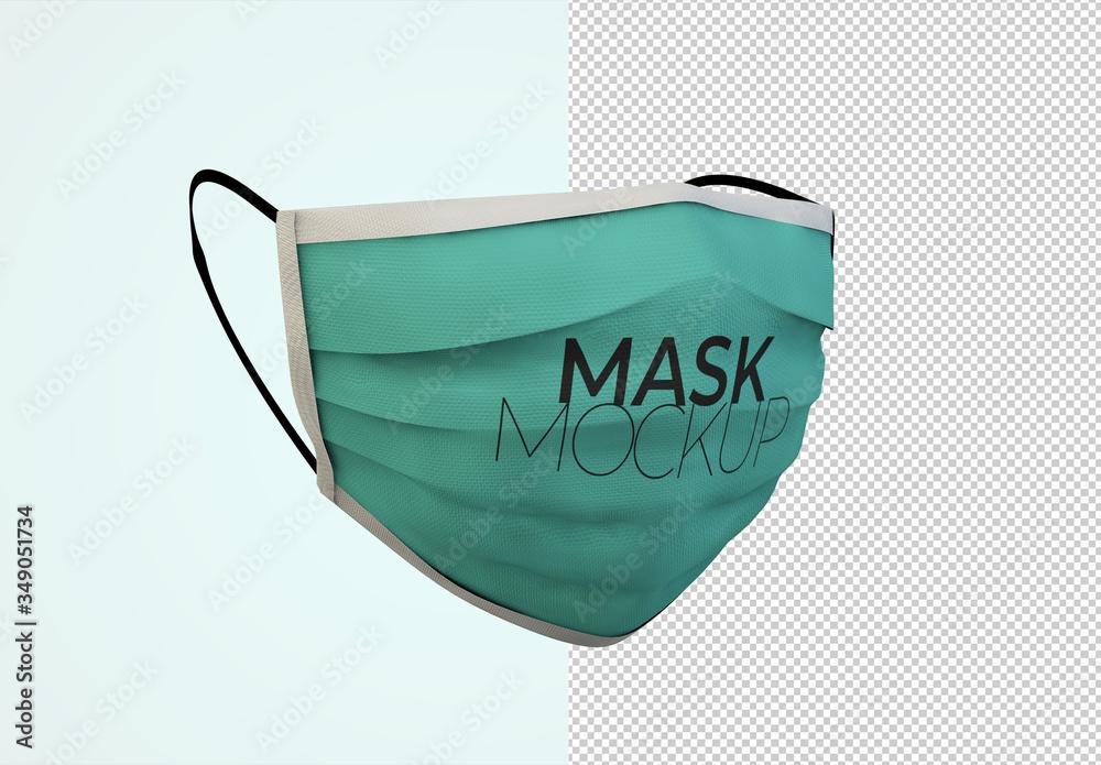Fototapeta Face Protection Mask Mockup