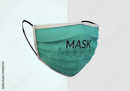 Fototapeta Face Protection Mask Mockup obraz