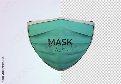 Obraz Front View Face Protection Mask Mockup - fototapety do salonu