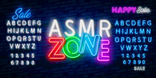 ASMR Neon Vector Text. Autonom...