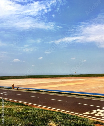 View Of Airfield Against Sky Canvas Print