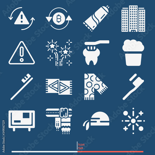 16 pack of absence  filled web icons set Wallpaper Mural