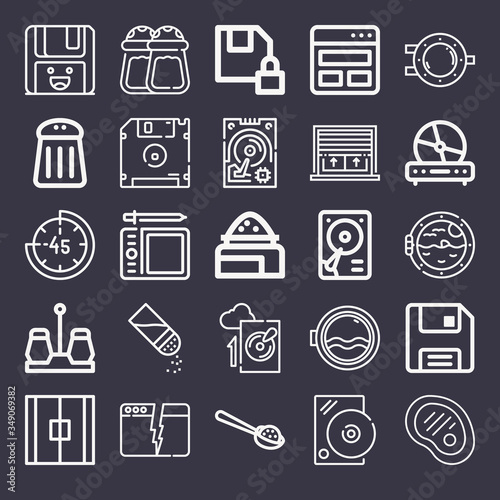 Photo Set of 25 acetate lineal icons