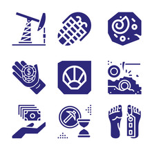 Set Of 9 Remains Filled Icons