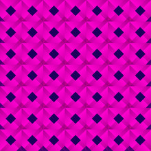 Graphic Stylish Pattern Dark Squares And Pink Rhombuses In A Checkerboard Pattern.
