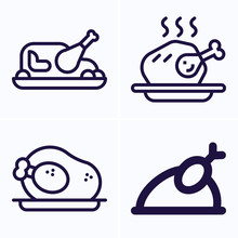 Simple Set Of 4 Icons Related ...
