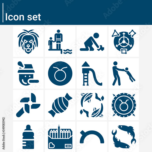 Simple set of adulthood related filled icons. Fototapet