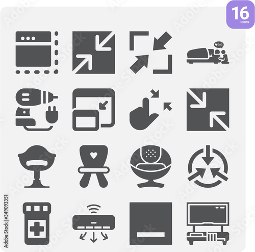Photo Simple set of alleviate related filled icons.