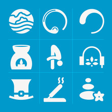 Filled Chan 9 Vector Icons Set...