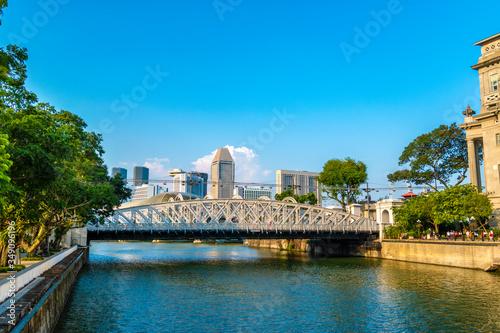 Anderson Bridge is a vehicular bridge that spans across the Singapore River Wallpaper Mural
