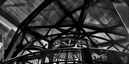 Low Angle View Of Ceiling In Chattanooga Convention Center Canvas-taulu