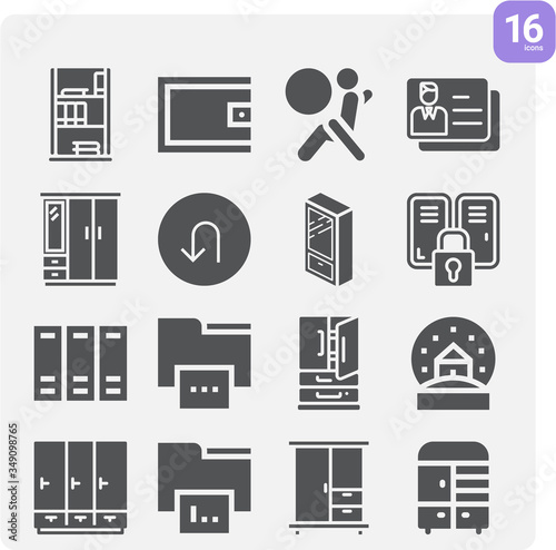 Simple set of changed related filled icons. Canvas-taulu