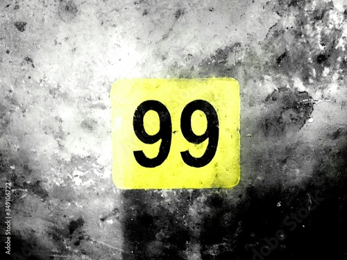 Number 99 On Wall Poster Mural XXL