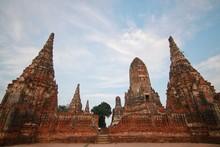 Watchaiwatthanaram, Buddha Statue, Historical Park In Ayutthaya, Thailand