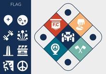 Modern Simple Set Of Flag Vect...