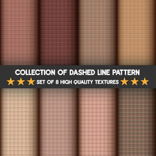 Collection Dashed Line Pattern...