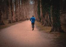 Hombre Corre En El Camino Del ...