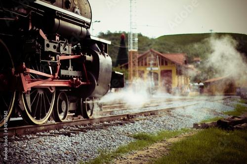 Fotografia Close-up Of Smoke Emitting From Steam Train