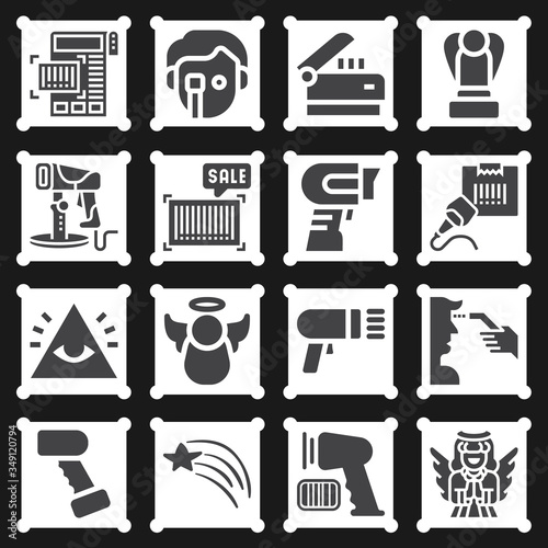 16 pack of penn  filled web icons set Wallpaper Mural