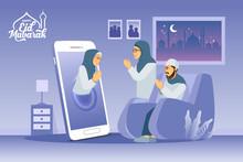 Eid Mubarak Greeting Card. Mus...