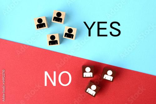 賛成か反対かの質問結果のイメージ Canvas Print