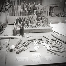 Work Tools For Sculpting On Table