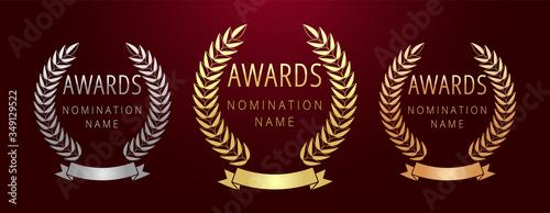 Obraz na plátně Awards logotype set