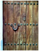 Close-up View Of Old Wooden Door