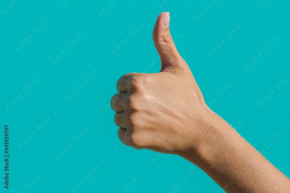 Fototapeta thumb up sign. sign