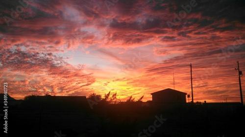 Valokuva Farmhouse At Sunset