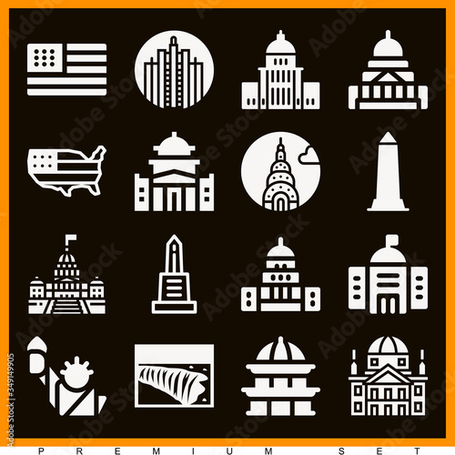 Fotografija Set of 16 albany filled icons