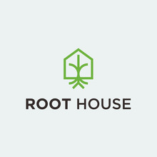 Root House Logo. Root Vector