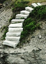 Stone Steps On Rock In Beavertail State Park