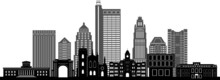 COLUMBUS OHIO City Skyline Silhouette Cityscape Vector