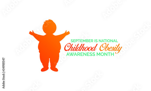 Fotografia, Obraz Vector illustration on the theme of National Childhood Obesity awareness month observed each year during September