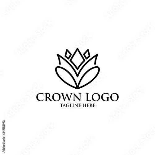crown logo icon vector isolated Canvas